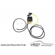 Headlight relay set for: Porsche 911 74-88 version