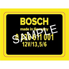 Bosch RPM Transducer decal for 911 1971-1973