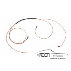 Wire harness rear window heating single stage