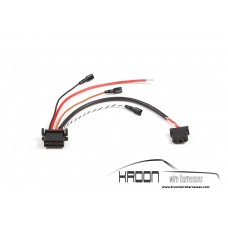 Wire harness rear window relay two-stage heater