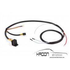 Wire harness headlight washer system together with air conditioner