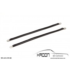 Ground strap for bonnet mounting parts